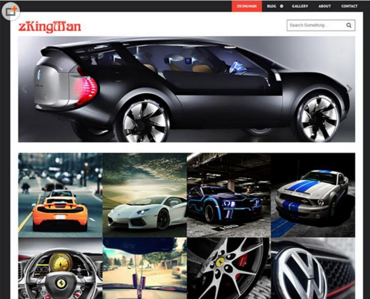 汽车配件供应商网站模板